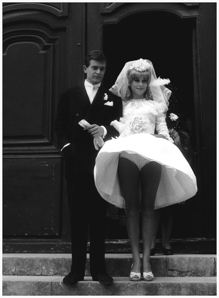 Jean-Pierre Honoré and Catherine Deneuve in Le vice et la Vertu directed by Roger Vadim, 1963